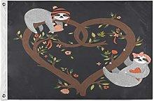 Alarge - Bandiera da giardino romantica con albero