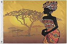 Alarge - Bandiera da giardino vintage africana