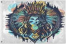 Alarge - Bandiere da giardino tribale, astratte,