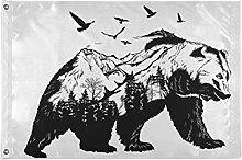 Alarge - Bandierine da giardino astratte con orso,