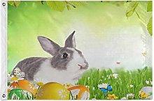 Alarge - Bandierine da giardino con coniglietto