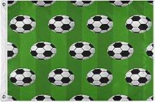 Alarge - Bandierine da giardino per calcio, 2 x 3