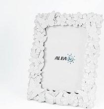 Albalù Portafoto Bianco con Applicazioni su