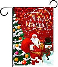 Albero di Natale rosso Babbo Natale Pupazzo di