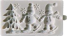 Albero di Natale Santa Snowman Stampo Silicone