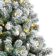 Albero LED Imperial da interni verde/bianco 210 cm