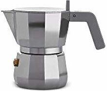Alessi DC06/1 Caffettiera Espresso, Aluminum