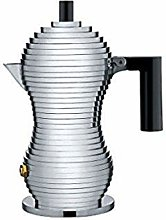 Alessi MDL02/1 B Pulcina Caffettiera Espresso, in
