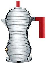 Alessi MDL02/1 R Pulcina Caffettiera Espresso, in
