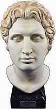 Alexander scultura il grande re macedone testa