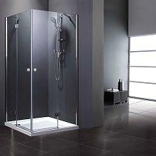 Alfa Box doccia ad angolo quadrato 90 x 90 cm ante