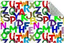 Alfabeto colorato, tappeto da cucina, tappetino