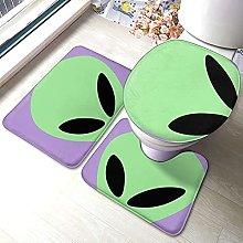 Alien - Set di 3 tappetini da bagno antiscivolo,