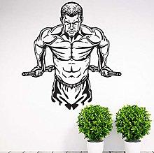 Allenamento palestra fitness adesivo da parete in