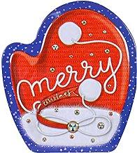 Allsmart - Scatola di latta natalizia con 8 guanti