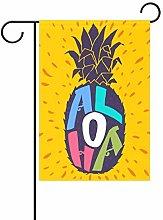 Aloha - Bandiera da giardino in poliestere, motivo