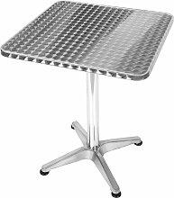 Alumine Tavolo da Giardino Quadrato in Alluminio,