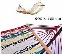 Amaca/Dondolo in tessuto 200x120cm Riposina