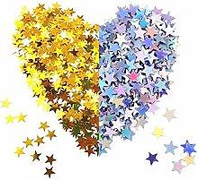 Amasawa 120g Stelle Confetti d'oro Argento