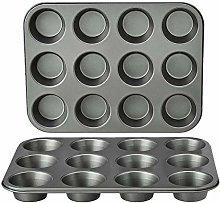 Amazon Basics - Teglia antiaderente per muffin, in