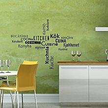 Ambiance-Live Adesivo murale Cucina multilingue -