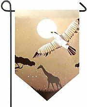 AMONKA - Bandiera da giardino a doppia faccia in