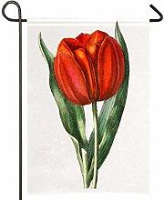Amonka, bandiera da giardino a tulipano, disegnata