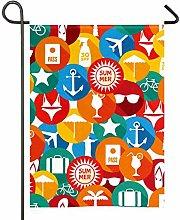 Amonka - Bandiera da giardino colorata con