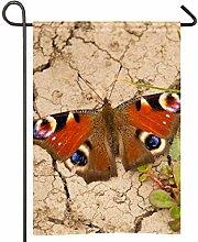 Amonka - Bandiera da giardino con farfalle e