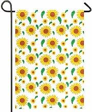 AMONKA - Bandiera da giardino con motivo girasole,