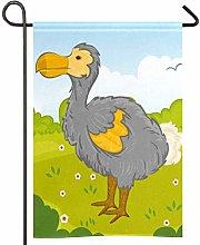 Amonka Dodo Bird In Park Bandiera da giardino a