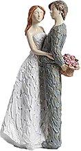 Amore Coppia Figura Figurine Abbraccia Coppia