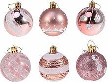 Amosfun 24 palline di Natale infrangibili con