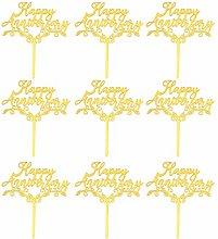Amosfun 25Pcs Happy Anniversary Cake Topper