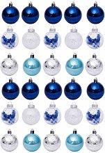 Amosfun 30Pcs Ornamenti per Palle di Natale