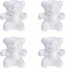 Amosfun 4 statuette in polistirolo a forma di orso