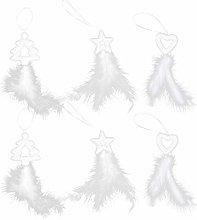 Amosfun 6 decorazioni per albero di Natale, in
