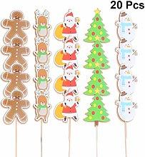 Amosfun - Decorazioni natalizie per cupcake e