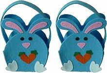 Amosfun pasqua decorazioni 2pcs Bunny Design Gift