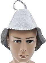 Amusingtao Cappello per sauna, in feltro di lana,