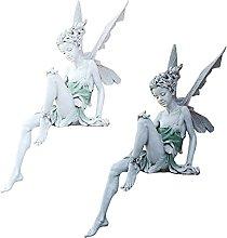 Amuzocity 2pcs Statua di Fata Stagno Sporgenza