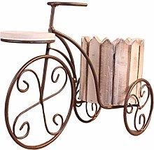 Amuzocity Battuto Bicicletta Fiore Pianta in Vaso