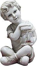 Amuzocity Scultura di Bambino Statua Scolpita in