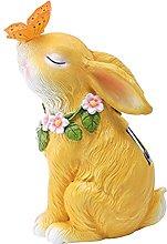 Amuzocity Scultura di Figurina di Coniglio di Luce