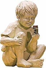 Amuzocity Statuetta in Resina per Bambini con Vaso