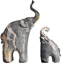 AMYZ Madre e Figlio Elefante Statua