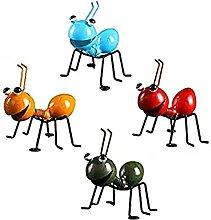 AMYZ Statuetta di formiche in Metallo da 4 Pezzi -
