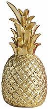Ananas decorativo color oro, soprammobili a Forma