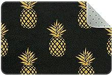 Ananas dorato, tappeto da cucina, tappetino