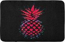 Ananas Rosso Ananas In Cuori Su Nero San Valentino